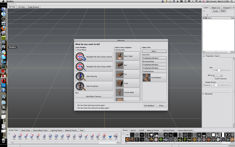 CGTalk | My sculpt tools menu vanishes D:
